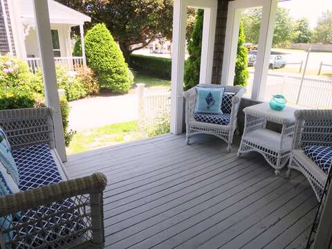 Sit -relax - read a book or enjoy people watching on Main Street!  388 Main Street Chatham Cape Cod New England Vacation Rentals