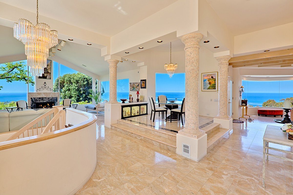 The stunning ocean views from every room in the house makes this house our most popular.