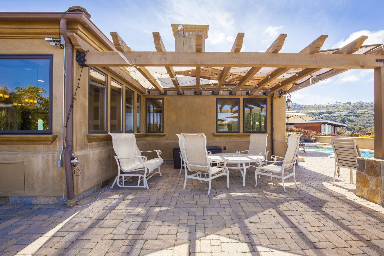 Private corner of the patio