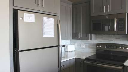 You will throughly enjoy cooking in this kitchen.