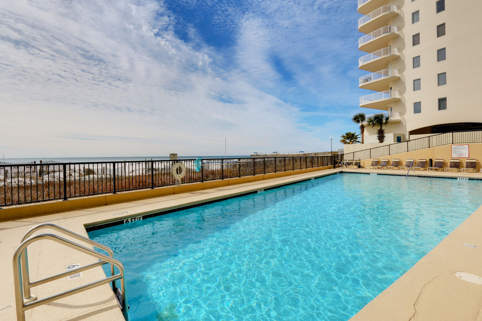 Outdoor Pool Available at our Beachside Rental in Orange Beach