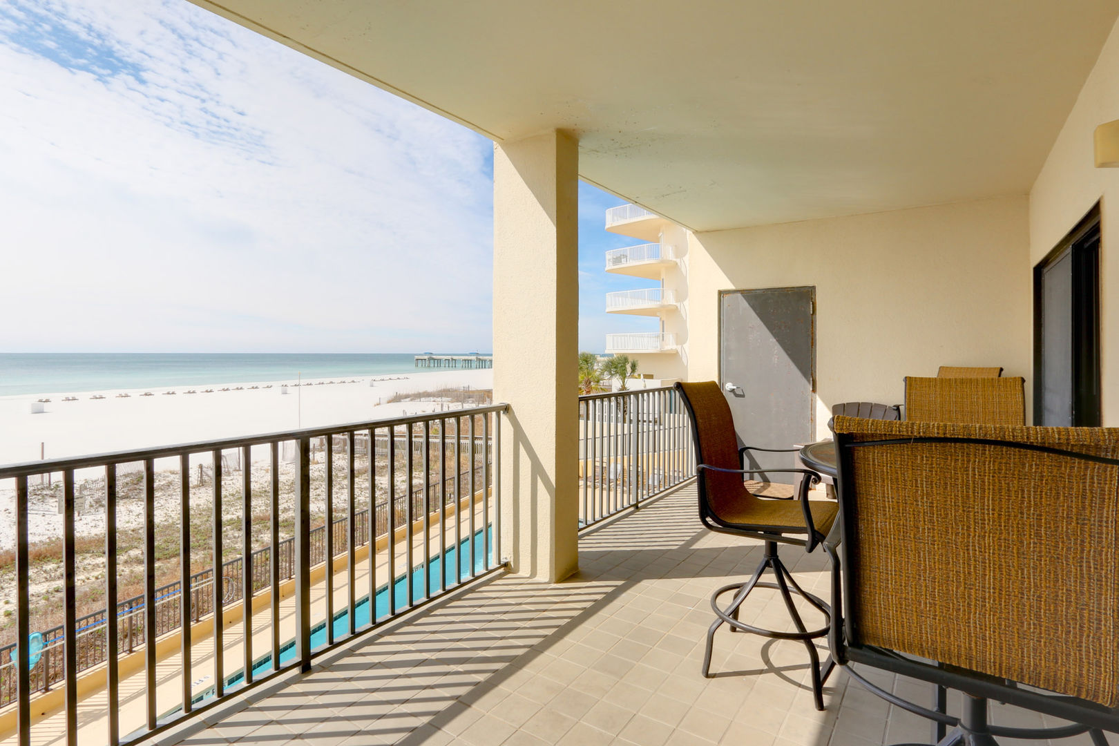 Relax on the Balcony with Beachfront Views