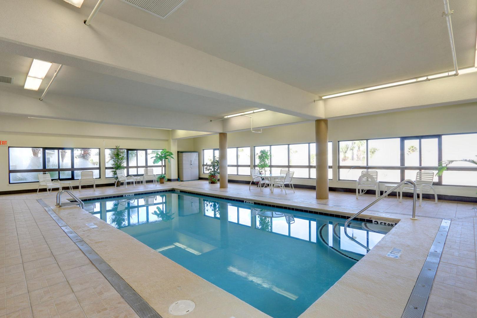 Indoor Pool at our Beachside Rental in Orange Beach