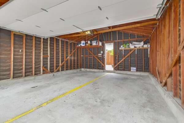 1 Space in Shared Garage door through to the patio to get to the front door of the home.