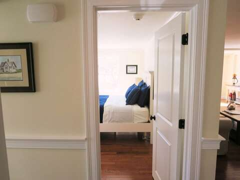 View from hall into bedroom - 109 Misty Meadow Lane #1 Chatham Cape Cod New England Vacation Rentals