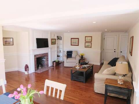 View from dining area into living area. - 109 Misty Meadow Lane #1 Chatham Cape Cod New England Vacation Rentals