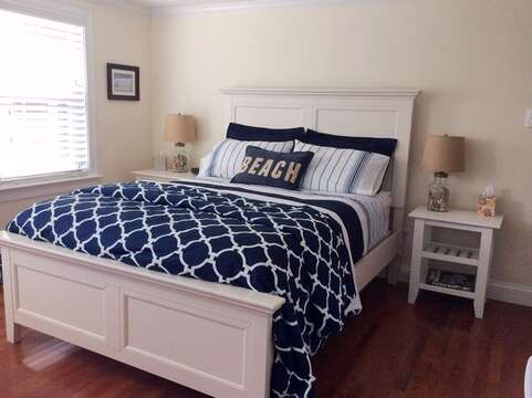 Bedroom with Queen Bed -Central AC Slim Line unit too! 109 Misty Meadow Lane #1 Chatham Cape Cod New England Vacation Rentals