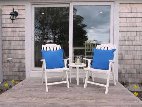 Deck off back - 109 Misty Meadow Lane #1 Chatham Cape Cod New England Vacation Rentals