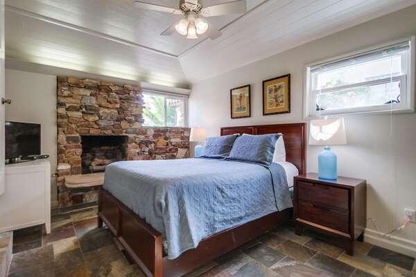 Queen Bedroom with fireplace