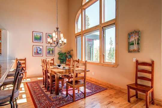 Dining room can expand to seat up to 12 guests