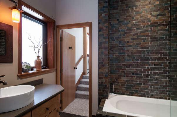 master bath and tub/shower