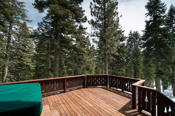 only National Forest behind this home make for a peaceful quiet setting