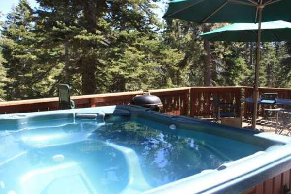 Hot tub on back deck - just off the great room
