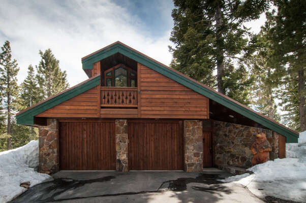 level driveway, double car garage and a heated covered entry make this home a great winter retreat