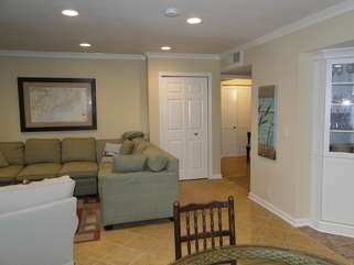Step toward the entry hall to get to the bedrooms and baths.
