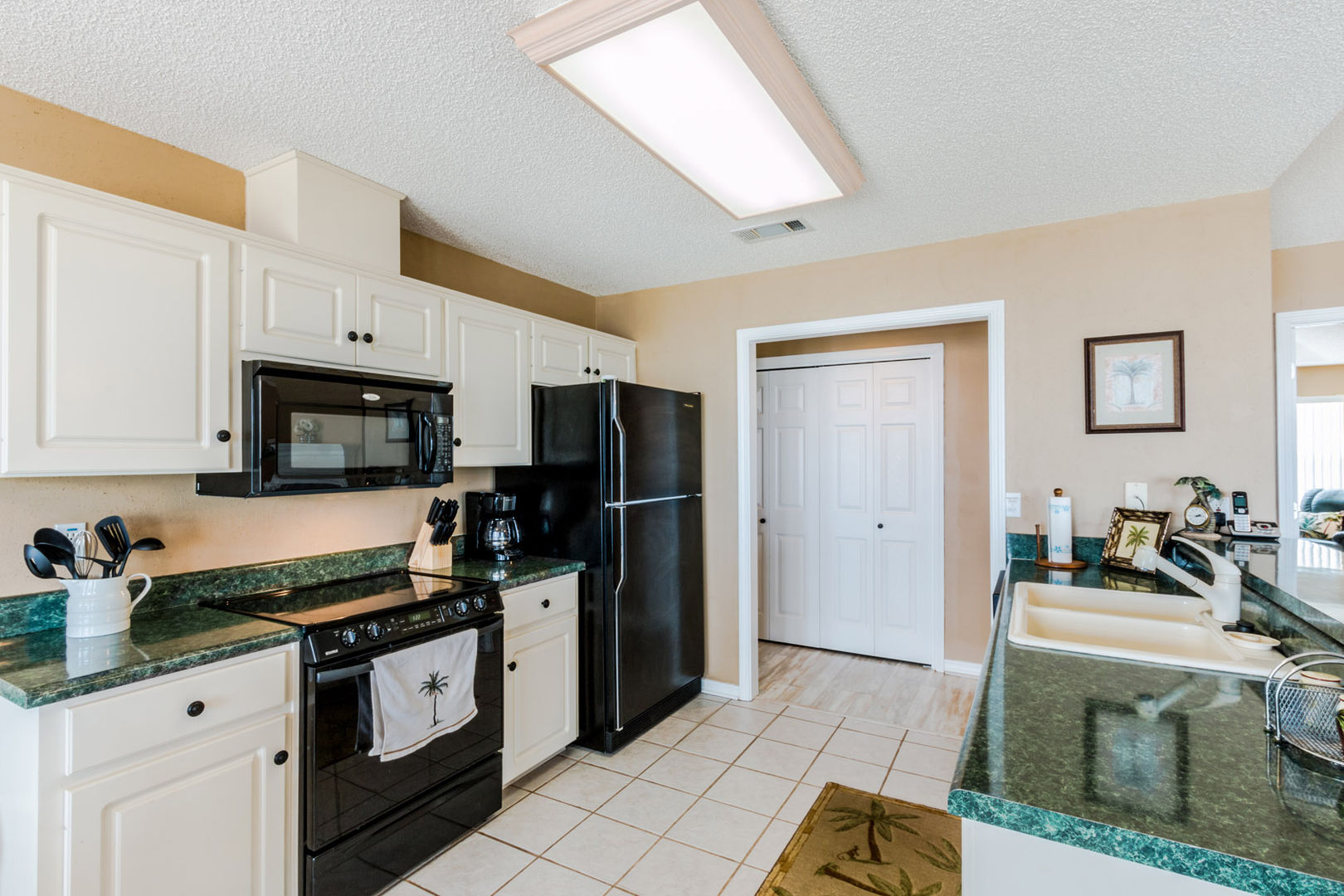 Open Kitchen Area with modern appliances.