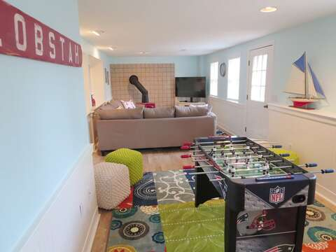 Game room with foosball - 93 Pine Ridge Road Chatham Cape Cod New England Vacation Rentals