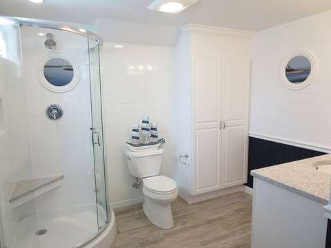 2nd view -En suite bathroom with shower off of bonus room on lower level- 93 Pine Ridge Road Chatham Cape Cod New England Vacation Rentals