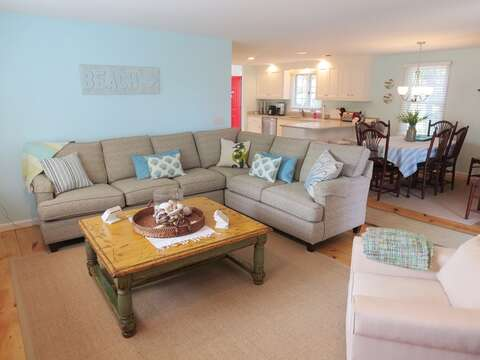 Open living, dining, and kitchen. Central air - 93 Pine Ridge Road Chatham Cape Cod New England Vacation Rentals