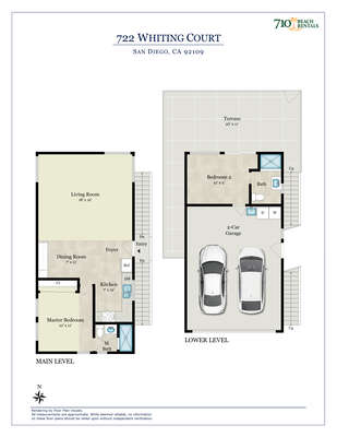 Image of Floor Plan of San Diego Vacation Rental.