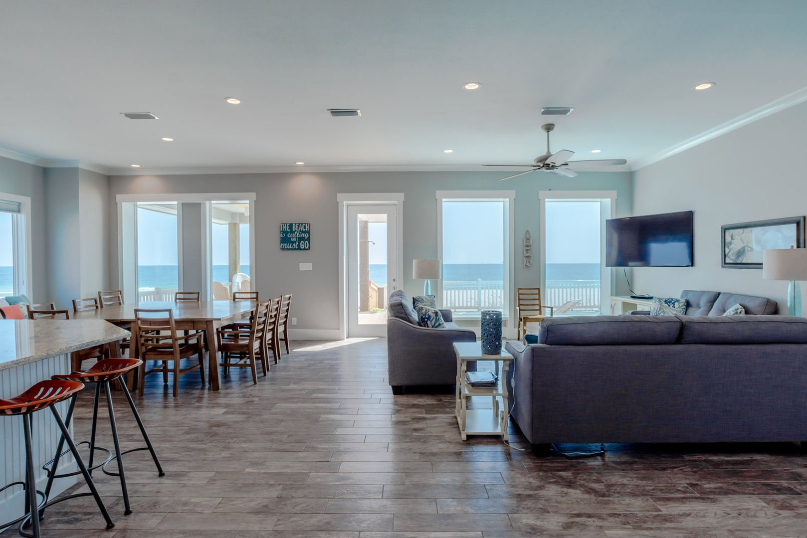 Look Out onto the Gulf Each Morning in our Vacation Home in Fort Morgan