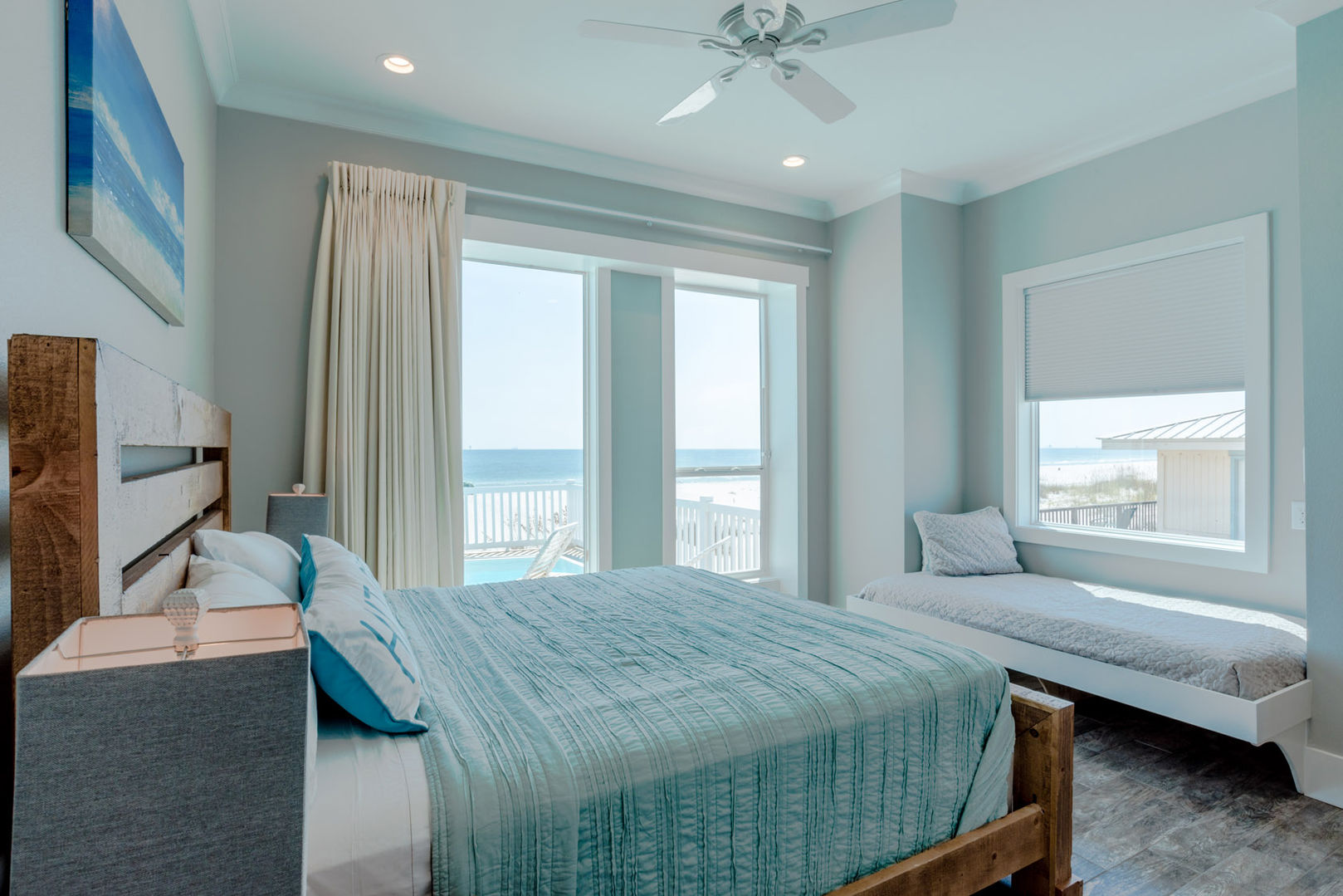 Bedroom 1 with Gulf Views and Private Deck Access
