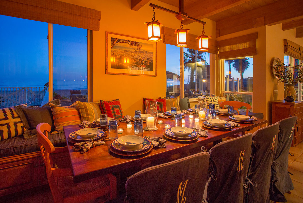 Dining table with an ocean view!