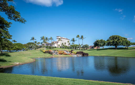 The lake in front of the Ko Olina Resort.