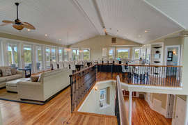 Upstairs living room & kitchen