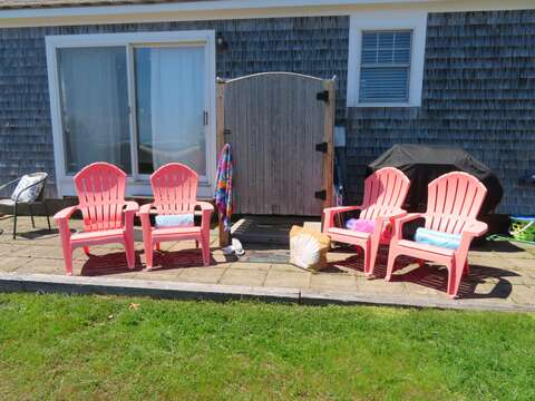 Enclosed outdoor shower with hot and cold water for your enjoyment after the beach! - 53 Little Beach Road Chatham Cape Cod New England Vacation Rentals