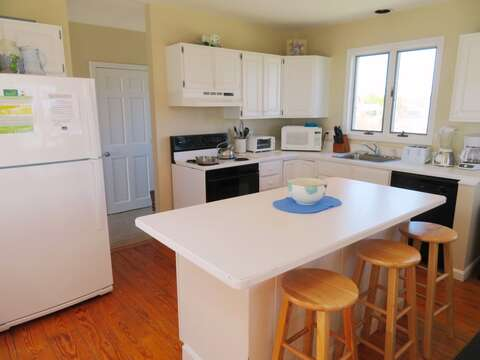 Kitchen - fully equipped with dishwasher -and breakfast bar to seat 3- 53 Little Beach Road Chatham Cape Cod New England Vacation Rentals