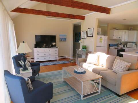 Open living- dining and kitchen - 53 Little Beach Road Chatham Cape Cod New England Vacation Rentals