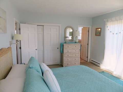 Master bedroom -King bed with Ensuite bath- 53 Little Beach Road Chatham Cape Cod New England Vacation Rentals