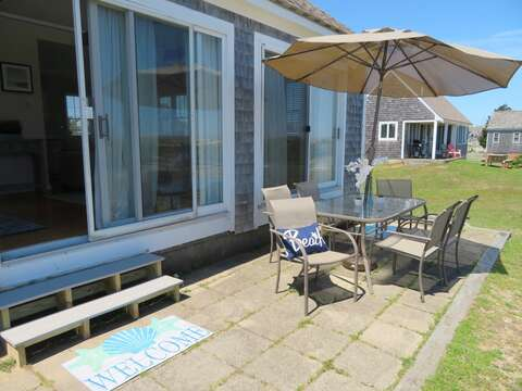 Plenty of room to dine outside and enjoy the views - 53 Little Beach Road Chatham Cape Cod New England Vacation Rentals