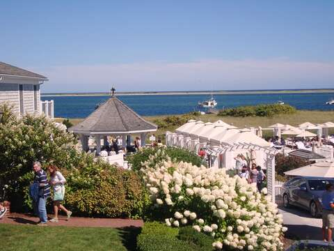 Sip your favorite Libation at the Chatham Bars Inn Beach Bar and enjoy the amazing view! Open to the public and just a mile and a half from the cottage! - Chatham Cape Cod New England Vacation Rentals