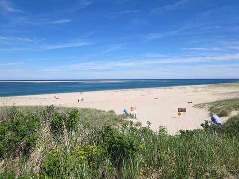 Or walk along the Famous Lighthouse beach! just under a 1/2 mile from the house. If you are an early bird - be sure to take a morning yoga class on the beach! (check out the details on the mobile app- Chatham Cape Cod New England Vacation Rentals