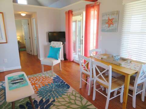 Sliders to patio and path to beach - 47 Little Beach Road Chatham Cape Cod New England Vacation Rentals