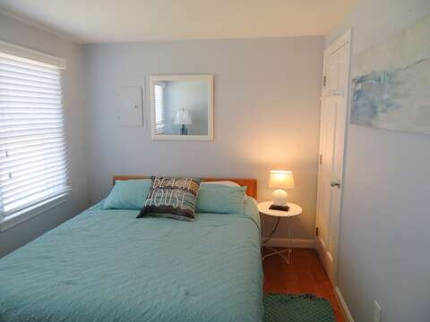 Bedroom 1 with Queen Bed and A/C- 47 Little Beach Road Chatham Cape Cod New England Vacation Rentals