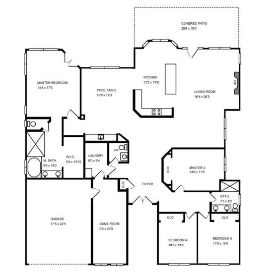 Layout of Our North Scottsdale Rental.