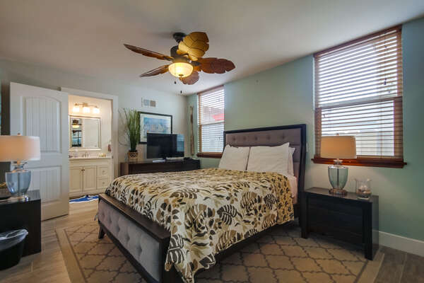 Master Bedroom with Queen Bed and Ensuite Bathroom