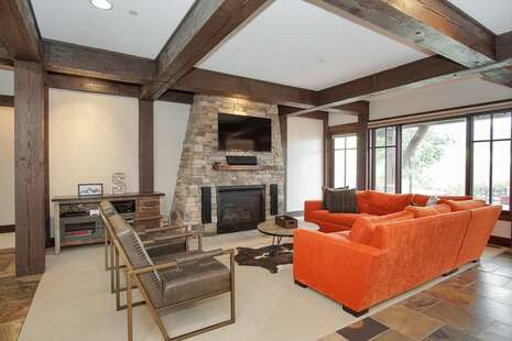 Living Room with Gas Fireplace and a beautiful view