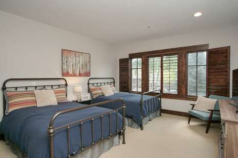 2nd Bedroom with two full beds and ensuite bathroom,