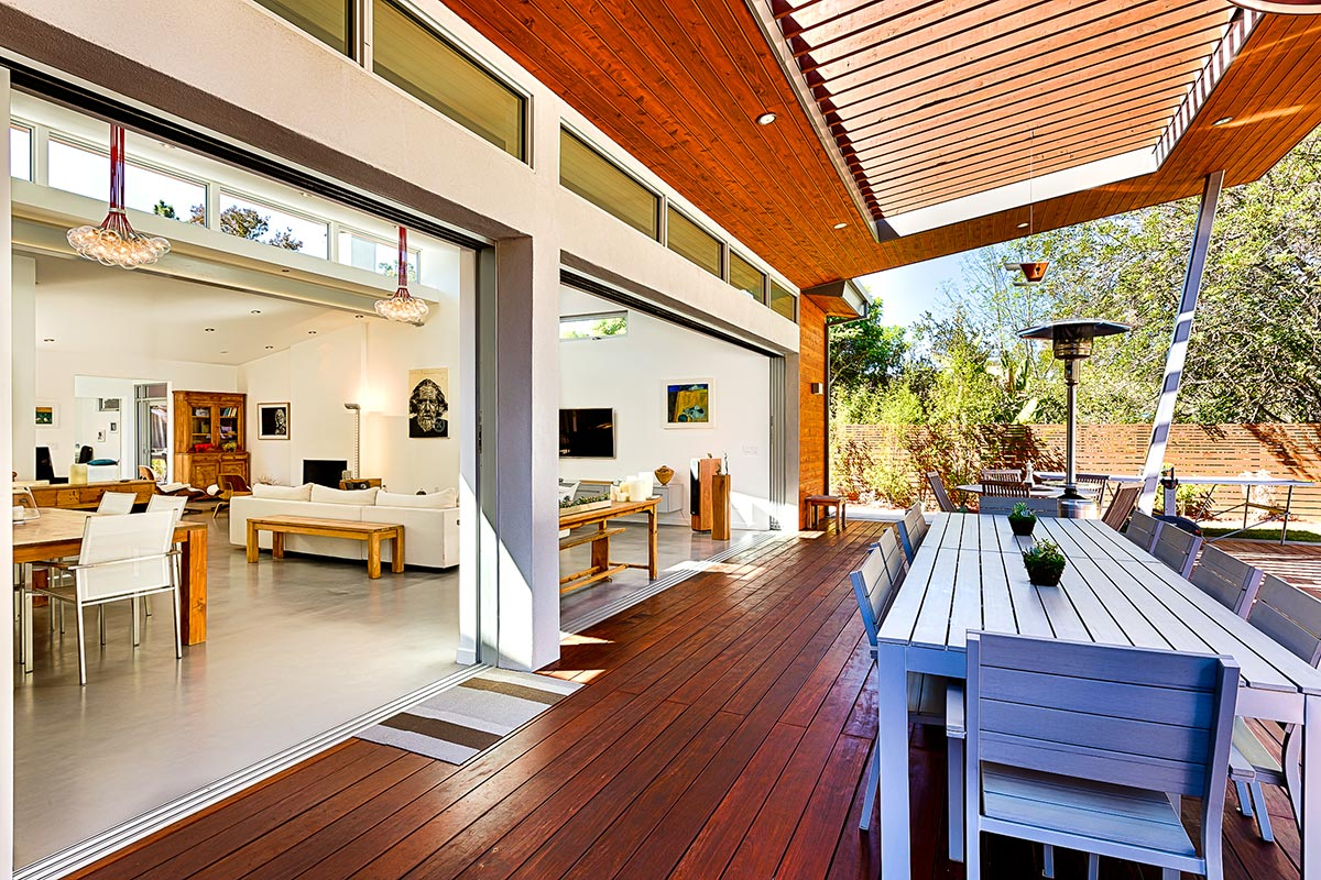Retracting walls are a highlight of this magnificent home
