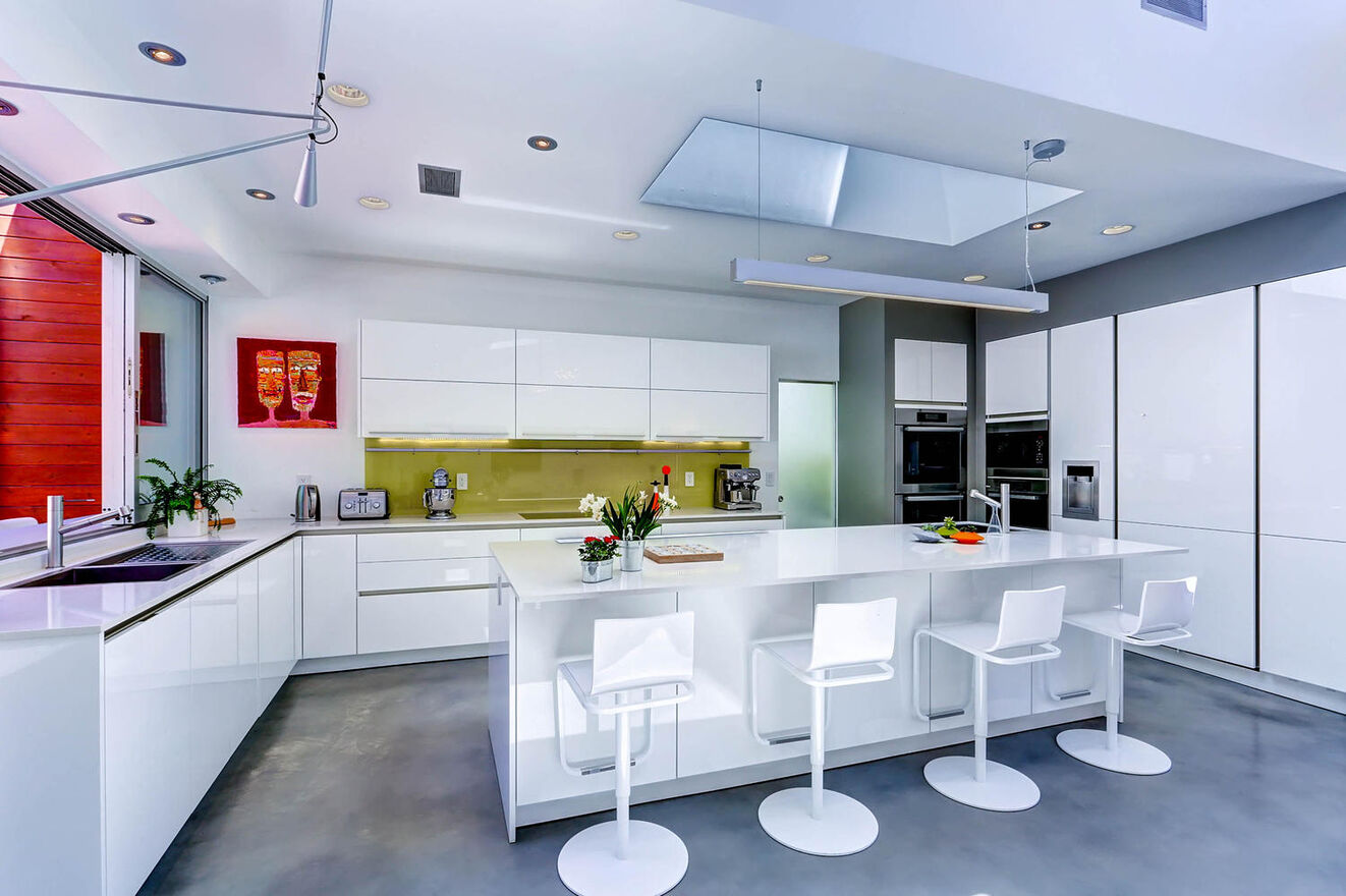 Sleek and modern, the kitchen is up to any task
