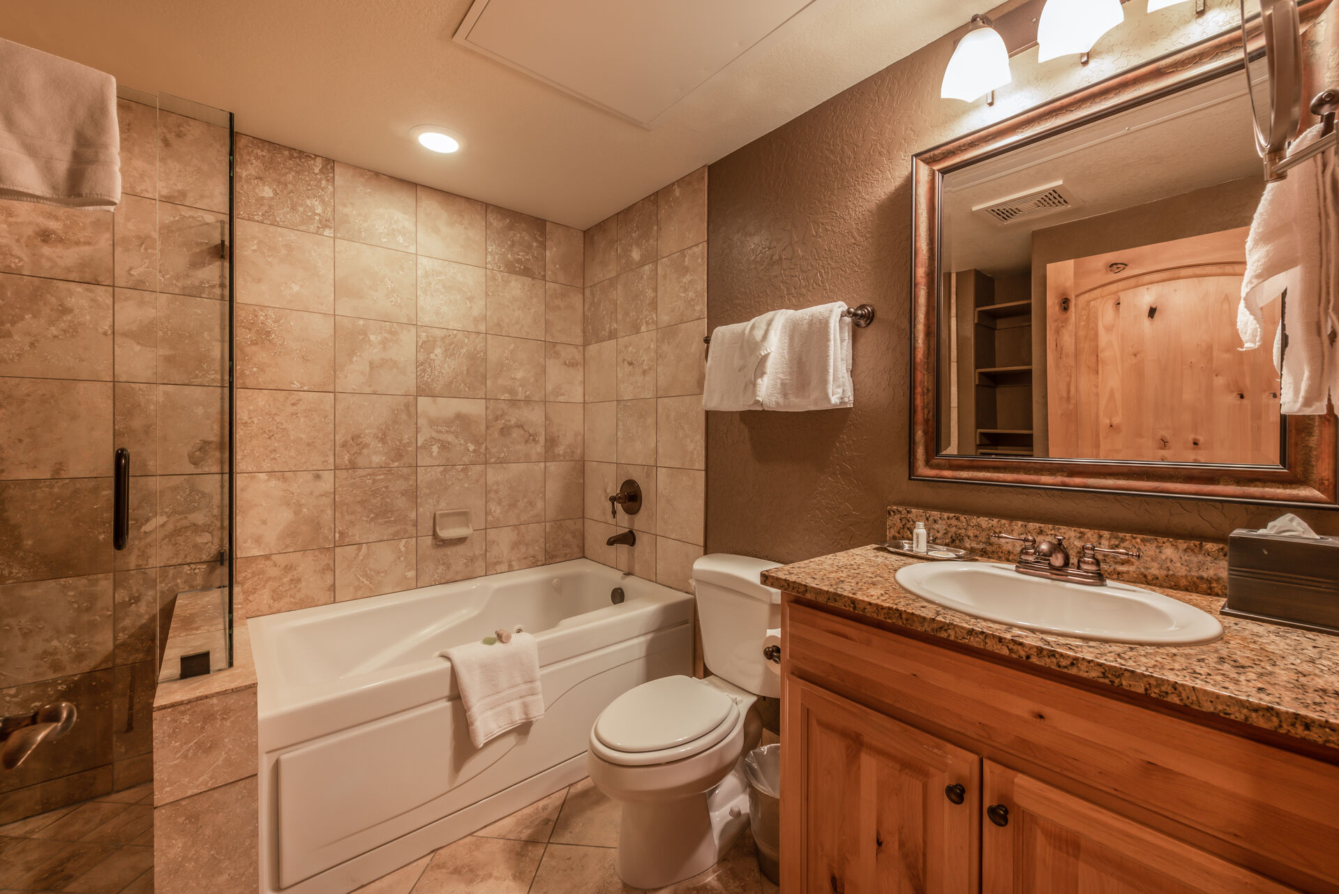 Master Bath with Soaking Tub, and Shower