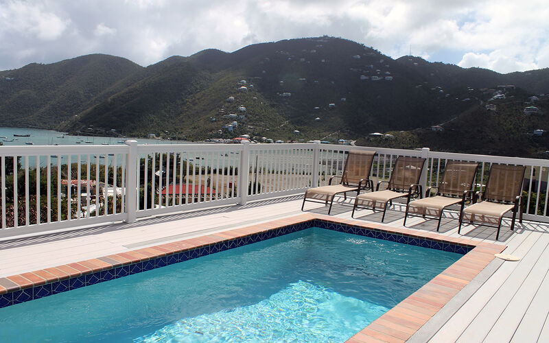 View of Coral Bay from pool deck