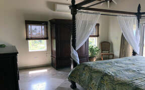 Upper level bedroom features individually controlled a/c and satellite TV