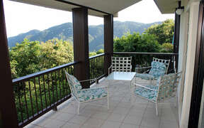 Sitting area on covered patio