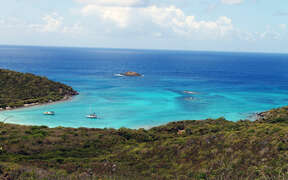 Salt Pond Bay and the Caribbean Sea
