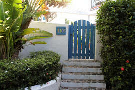 Stone steps to front gate